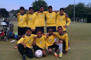 Sneinton United U13 team at the Nottingham Sports FEs